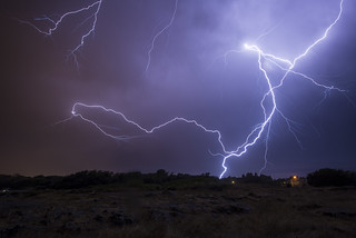 Lightning over Cattle Point | by Mike J Munroe