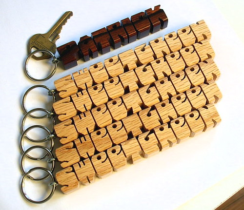 Rosewood and Red Oak Keychains | by DustyNewt Scott