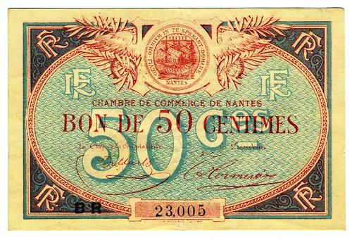 Nantes billet de 50 centimes de la chambre de commerce 1 flickr - Chambre de commerce de nantes ...