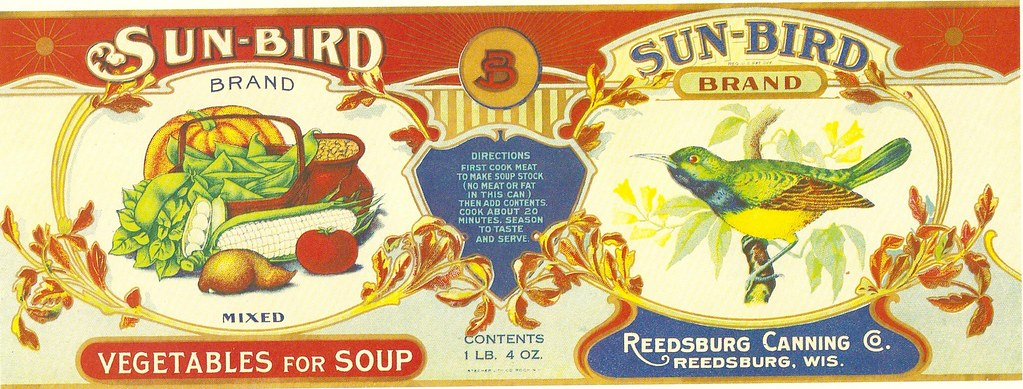 Sun Bird Vegetables Vintage Crate Food Label Sign | misopocky | Flickr