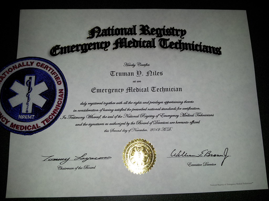 National emt certification after waiting three days to fin flickr national emt certification by truman nihilist 1betcityfo Gallery