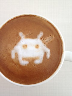 Today's latte, Space Invaders. | by yukop