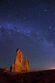 "Milky Way over The Organ - Arches NP | by IronRodArt - Royce Bair (""Star Shooter"")"
