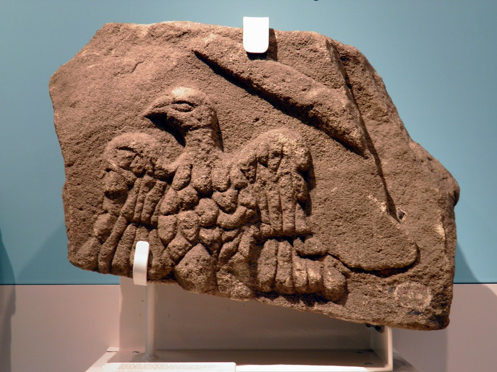 Relief With A Carved Eagle Aquila Symbol Of The Roman E Flickr