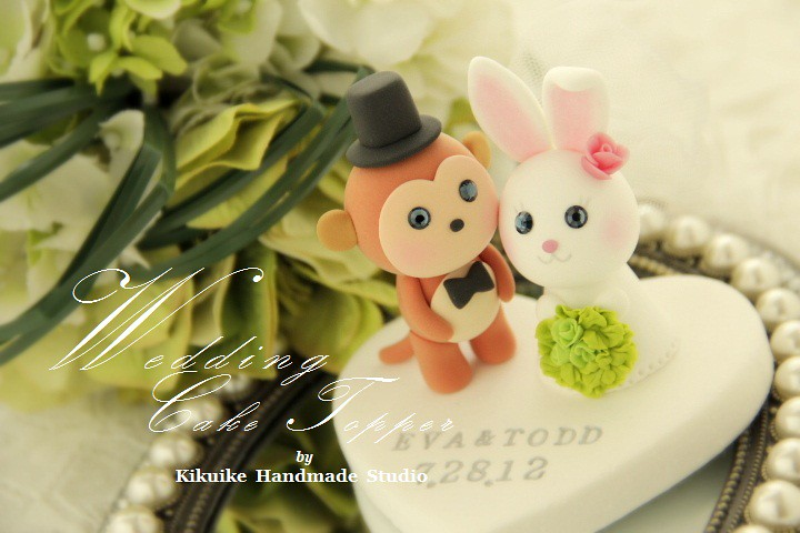 LOVE ANGELS Wedding Cake Topper-love monkey & rabbit | Flickr