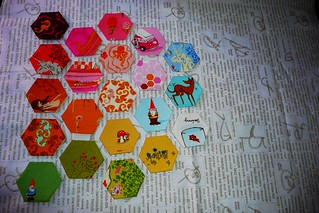 modern she made - spread hexies | by silort