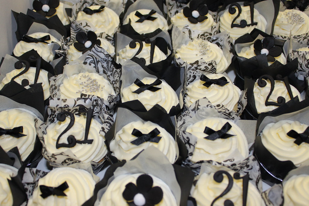 21st Birthday Black And White Themed