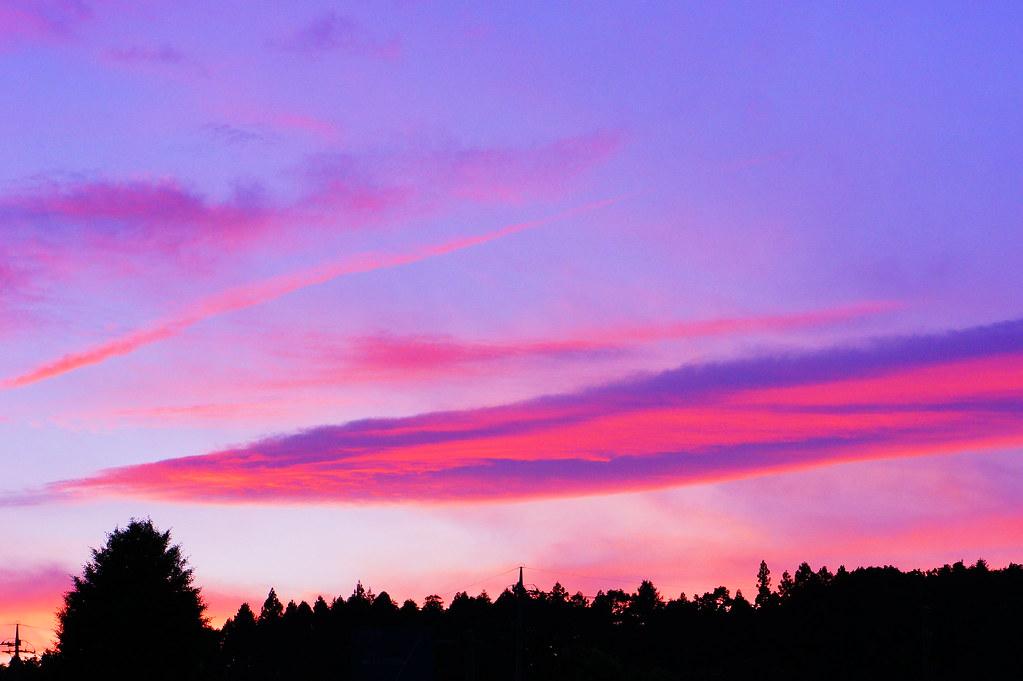 salmon pink sky サーモンピンクの空 tochigiken japan 木村 治