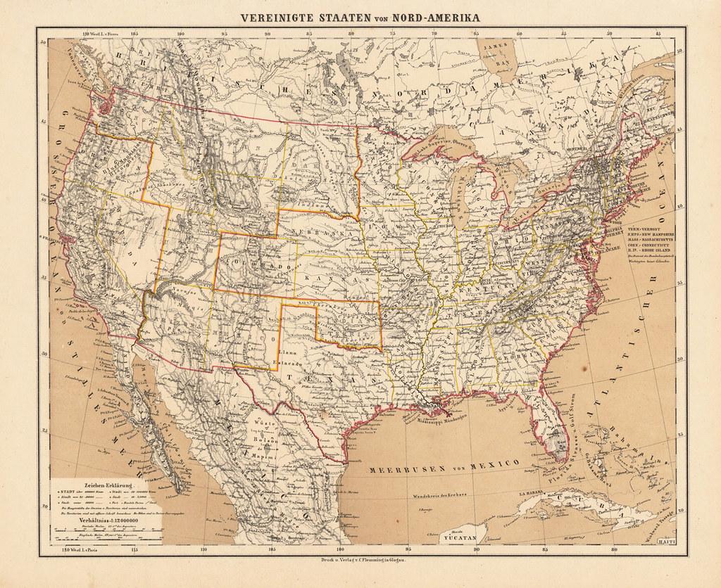 antique us map | ZoeDuJour | Flickr