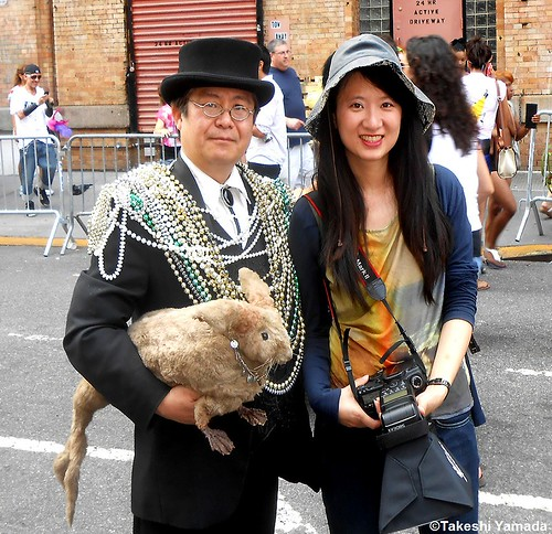 Seara (sea rabbit), Dr. Takeshi Yamada and festive parader at the New York City Gay Pride Parade in Manhattan, New York on June 24, 2012. Rogue Gothic Steampunk Fashion vs Gay Fashion 2012.  20120624 037 | by searapart13