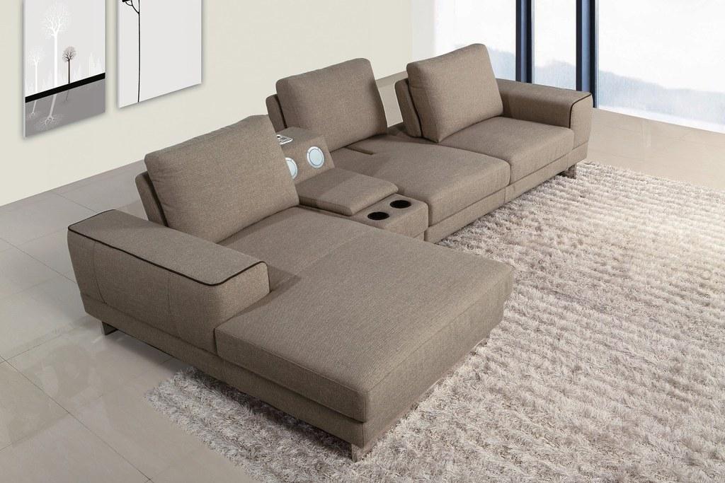 ... Modern Fabric Sectional Sofa furniture in Grey color - VGMB1374 | by Modern Miami Furniture : sectional sofa furniture - Sectionals, Sofas & Couches