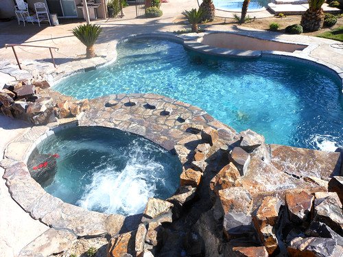 Custom Swimming Pool With Water Feature Alan Jackson Pools Flickr