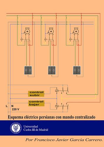 Esquema el ctrico persianas para mando centralizado flickr - Motor electrico para persianas ...