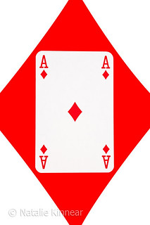 Playing Cards Ace of Diamonds on White Background | by Natalie Kinnear