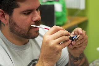 Hoyer paints minis with delicate precision. | by thinkgeekmonkeys