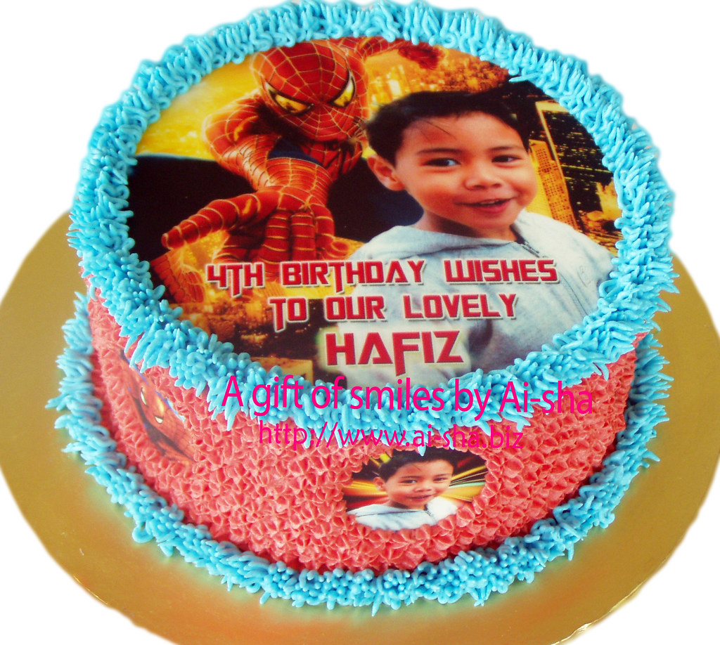 Birthday Cake Edible Image Spiderman