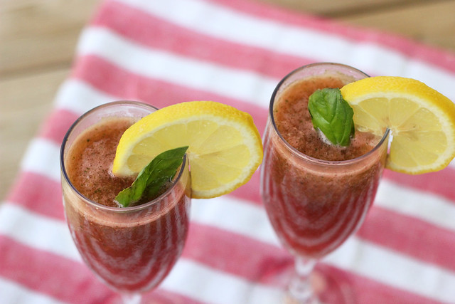 Basil Watermelon Refresher - Gluten-free, Vegan + Refined Sugar-free