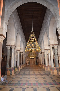 Kairouan, Great Mosque, central nave of prayer hall (2) | by Prof. Mortel