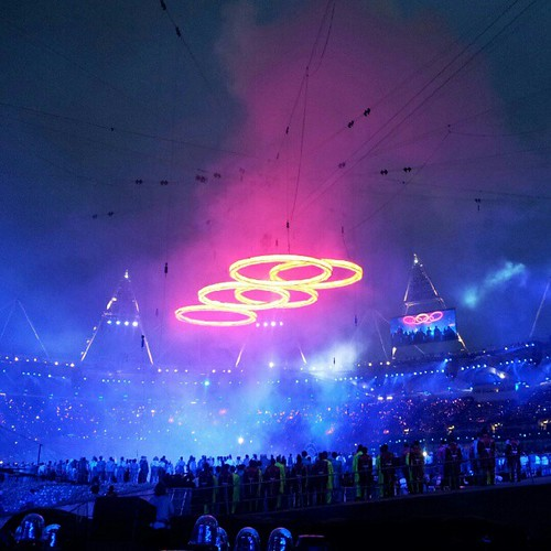 The Olympic rings burn out and slowly fade to black. Those ambient colours are just insane! | by The Logo Smith