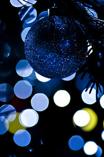 Christmas bokeh in blue | by NathalieSt