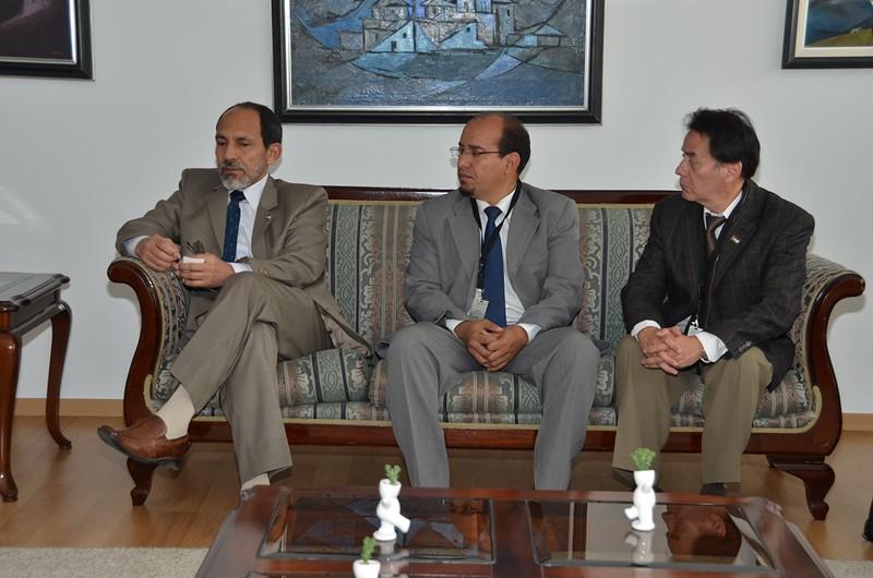Rectorado: Visita protocolar del Embajador de la República Árabe Saharaui Democrática. 17.05.2016