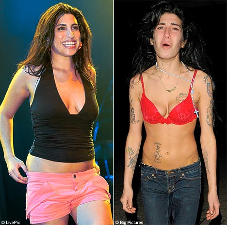 before and after amy winehouse ... Amy Winehouse