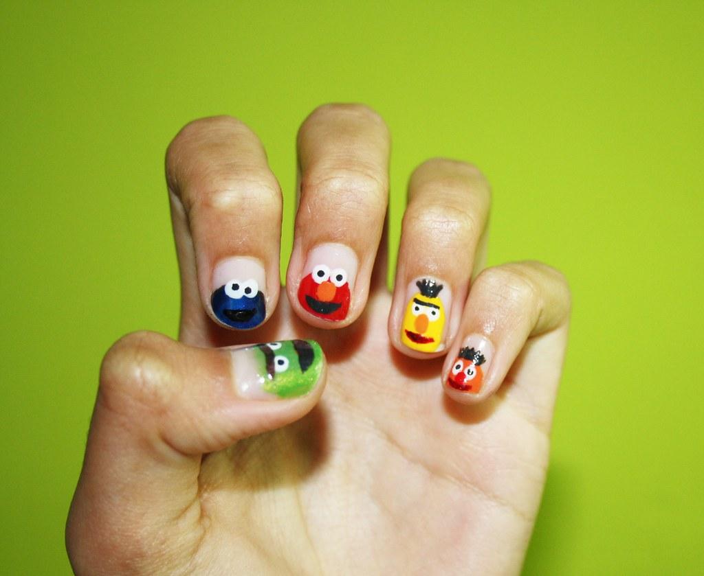 Sesame Street Nails Quickendeath Flickr