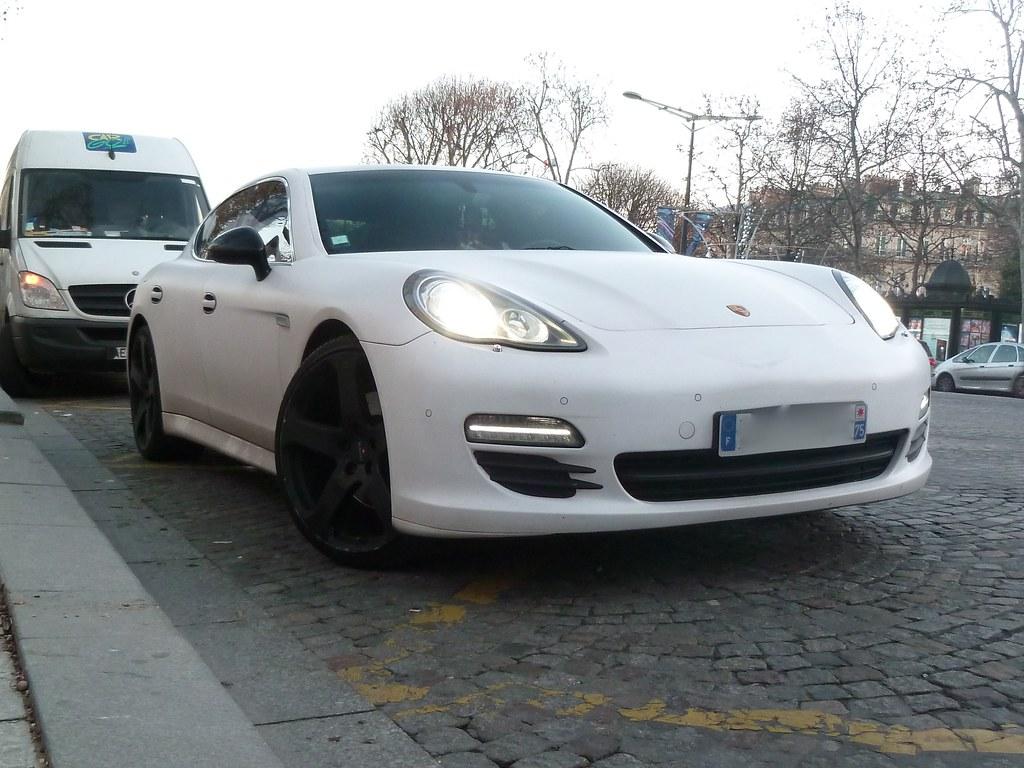 porsche panamera matte white by benoit cars