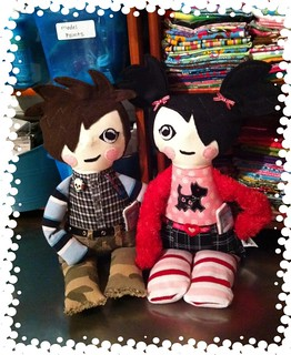 "Two New ""Tattered Teen"" dolls Jared and Avril 