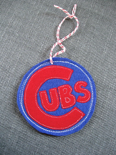 Cubs ornament for the hubs | by quirky granola girl