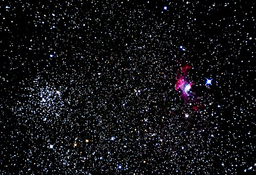 M52 cluster + NGC7635 Bubble Nebula | by grelf.net