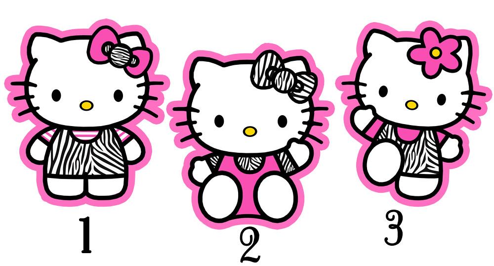 zebra hello kitty centerpiece birthday party supplues deco Flickr