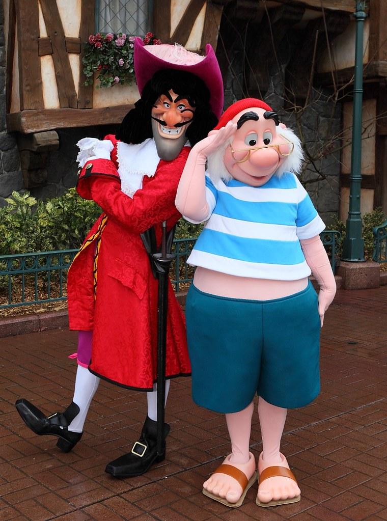 meeting captain hook and mr smee fantasyland disneyland flickr