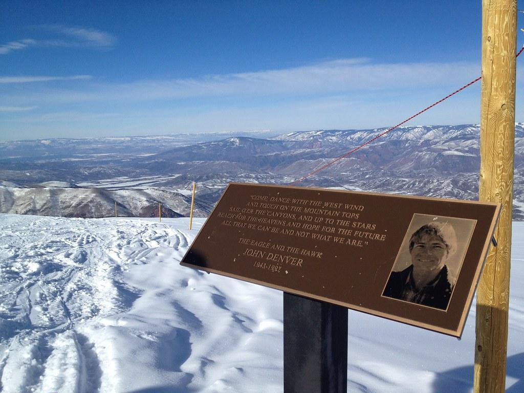 John Denver Memorial On Top Of Snowmass Co Jaye Flickr