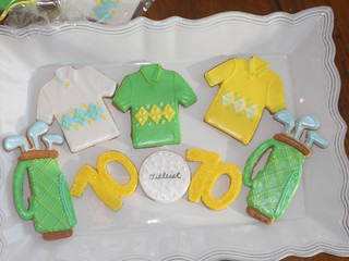 70th Birthday party Golf Cookies | by mimistro