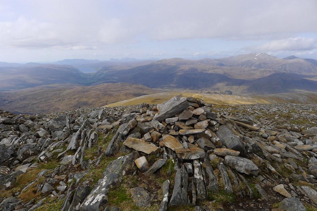 Summit of Beinn Liath Mhor Fannaich