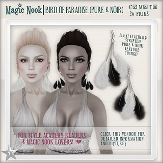 [MAGIC NOOK] Bird Of Paradise (Pure & Noir) - dollarbie gift - available now! | by Ayumi Cassini