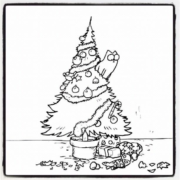 ... We love Simon's cat Xmas tree disaster #greetings   by relaxintheair - We Love Simon's Cat Xmas Tree Disaster #greetings Relax In The Air