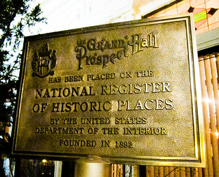 The Grand Prospect Hall Historical Marker | by NewYorkBrass