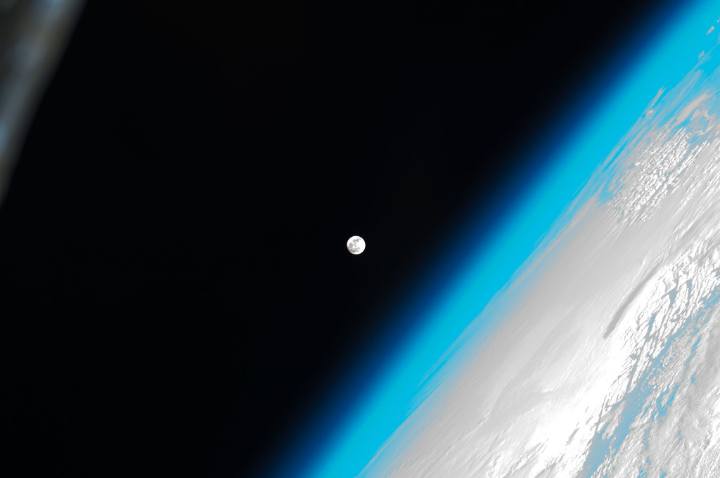 The Moon And Earth NASA International Space Station 01 08 12