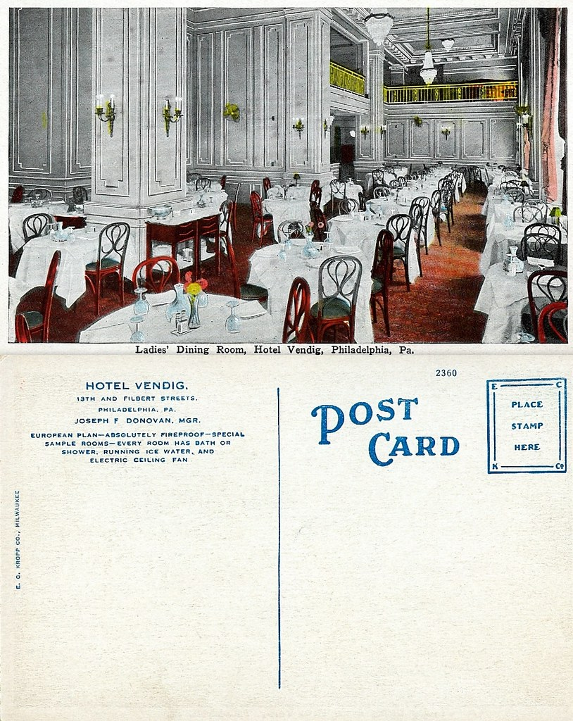 ladies dining room postcard front and back my great gre flickr