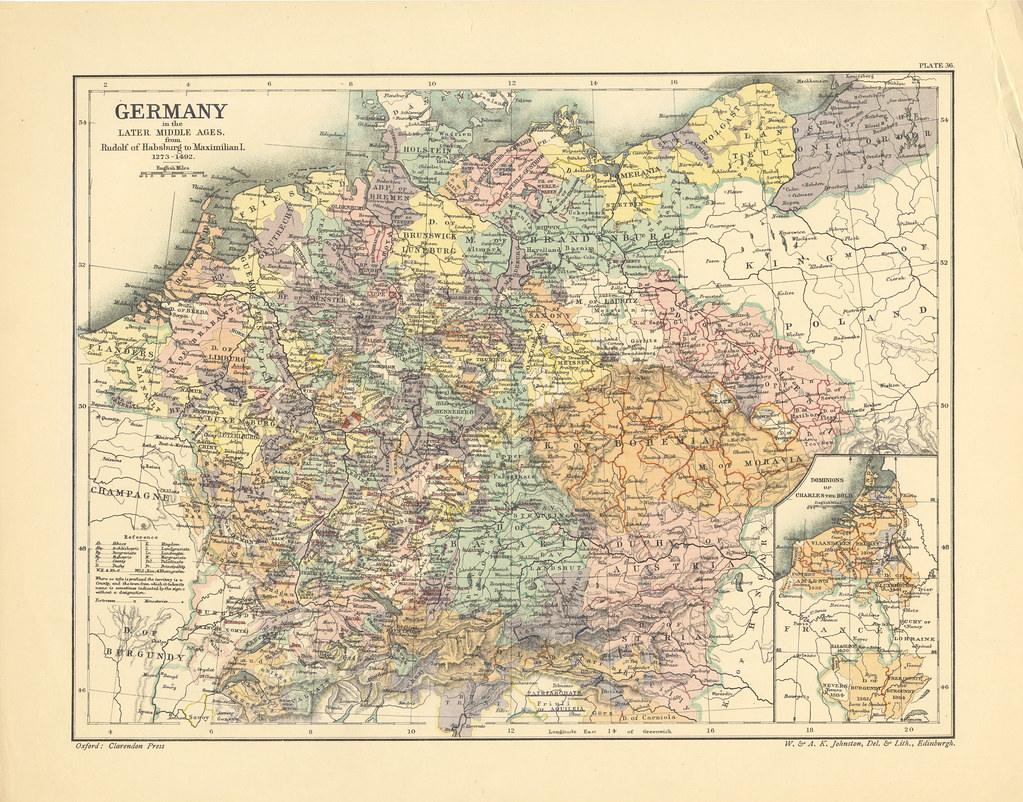 Map Page Of Section XXXVI Germany In The Later Middle Ages Flickr - Germany map middle ages