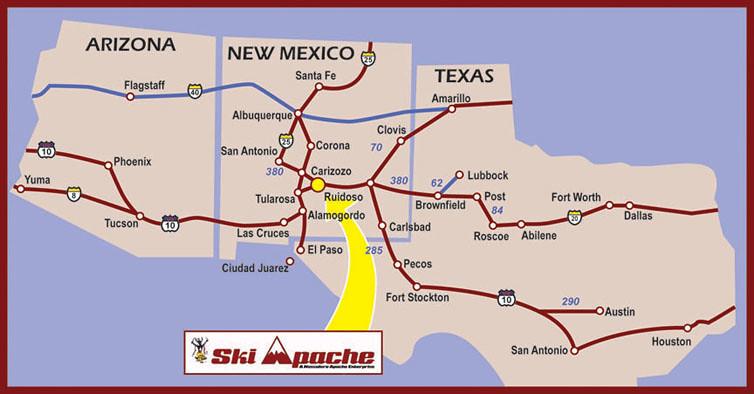 Ski In New Mexico Map.Imagenes De Ski Apache New Mexico Map