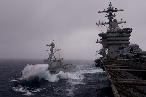 USS Halsey and USS Carl Vinson | by FrigateRN
