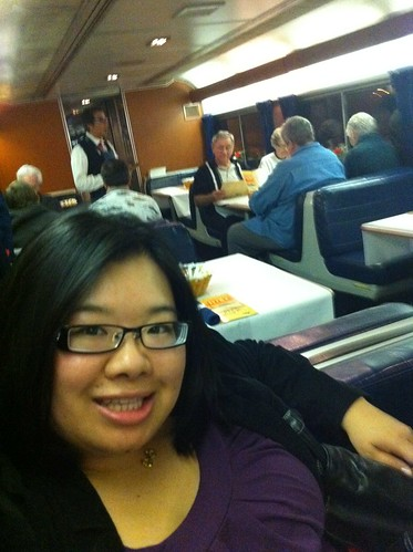 PIC: Joz in the dining car. The Southwest Chief. @Amtrak | by @jozjozjoz