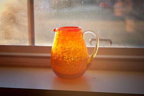 Glass Pitcher in Window at Grandma Jeanne's Apartment | by goingslowly