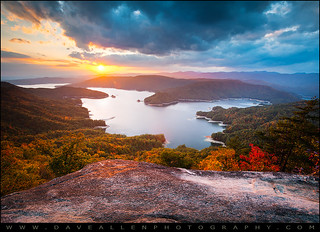 Blue Ridge Mountains Sunset - Lake Jocassee Gold | by Dave Allen Photography