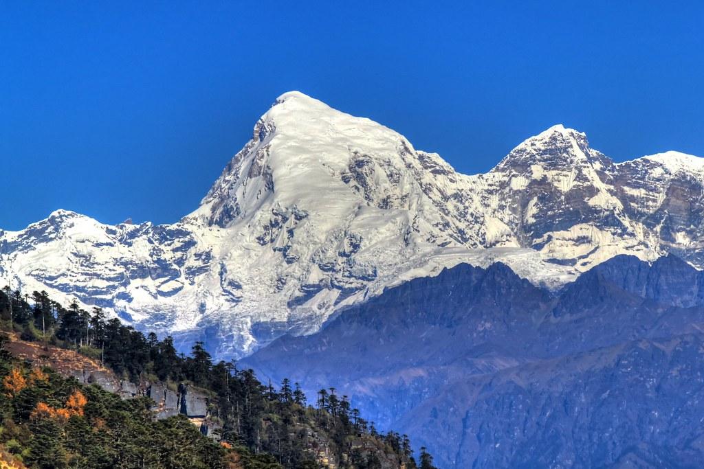 Chomolhari mountain, Bhutan (HDR)