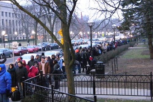 229/365/1324 (January 26, 2012) – People Waiting in Line for tickets for President Obama's Speech at the University of Michigan (January 26, 2012) | by cseeman