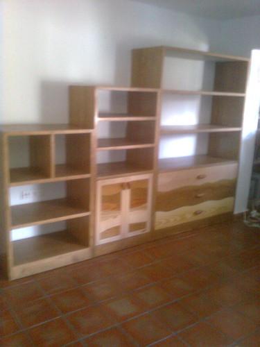 Mueble sal n mueble macizo con dibujos hechos combinando - Muebles juan jose ...